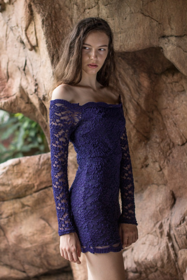 Lace Bodycon dress Navy2