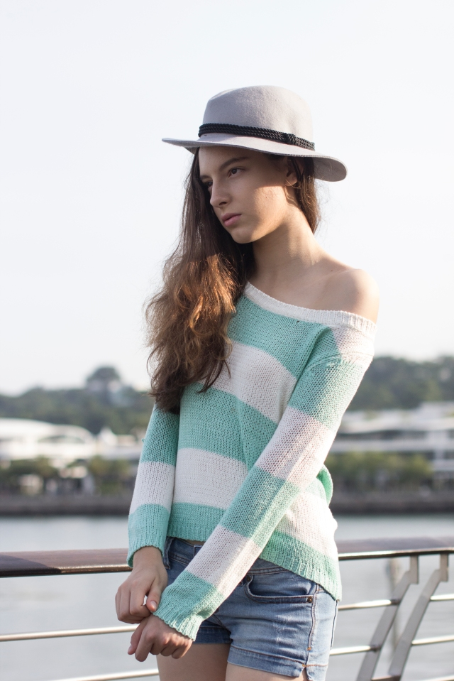 Mint stripes knit 3