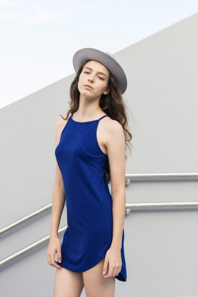 Blue Spag basic dress2